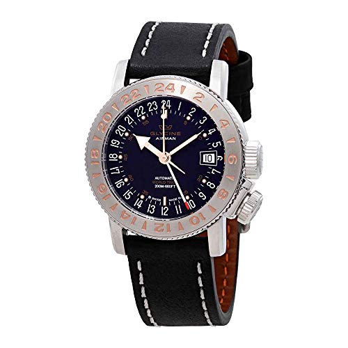 グリシン スイスウォッチ 腕時計 メンズ グライシン 【送料無料】Glycine Airman 18 GMT Automatic Black Dial Men's Watch GL0230グリシン スイスウォッチ 腕時計 メンズ グライシン