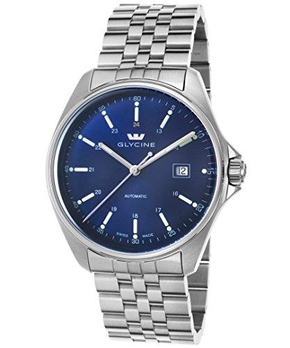 グリシン スイスウォッチ 腕時計 メンズ グライシン 【送料無料】Glycine 3890-18S-Mb Men's Combat 6 Automatic Stainless Steel Blue Dial Ss Watchグリシン スイスウォッチ 腕時計 メンズ グライシン