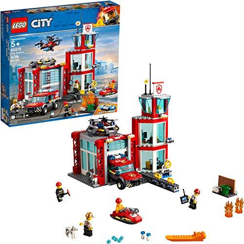 レゴ シティ LEGO City Fire Station 60215 Fire Rescue Tower Building Set with Emergency Vehicle Toys includes Firefighter Minifigures for Creative Play (509 Pieces)レゴ シティ