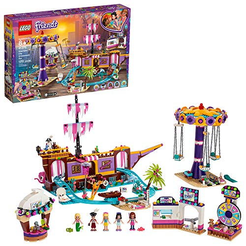 レゴ フレンズ LEGO Friends Heartlake City Amusement Pier 41375 Toy Rollercoaster Building Kit with Mini Dolls and Toy Dolphin, Build and Play Set includes Toy Carousel, Ticket Kiosk and more, New 2019 (1251 Pieces)レゴ フレンズ