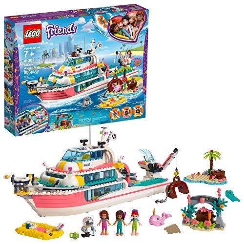 レゴ フレンズ LEGO Friends Rescue Mission Boat 41381 Boat Building Kit with Mini Dolls and Toy Sea Creatures includes Narwhal Figure, Treasure Chest and more for Creative Play (908 Pieces)レゴ フレンズ