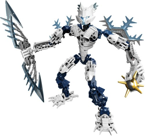 レゴ バイオニクル 【送料無料】Lego Year 2009 Bionicle Glatorian Legends DVD Series 7 Inch Tall Figure Set # 8988 : White GELU with Ice Slicer and Spiked Thornax Launcher (Total Pieces: 52)レゴ バイオニクル