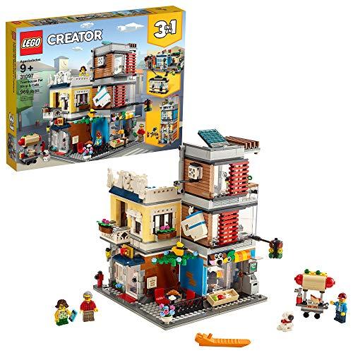 レゴ クリエイター LEGO Creator 3-in-1 Townhouse Pet Shop & Caf? 31097 Toy Store Building Set with Bank, Town Playset with a Toy Tram, Animal Figures and Minifigures, New 2019 (969 Pieces)レゴ クリエイター