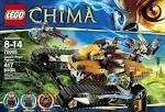 レゴ チーマ Game / Play LEGO Chima Laval Royal Fighter 70005, Includes 3 minifigures: Laval, longtooth and crawley Toy / Child / Kidレゴ チーマ