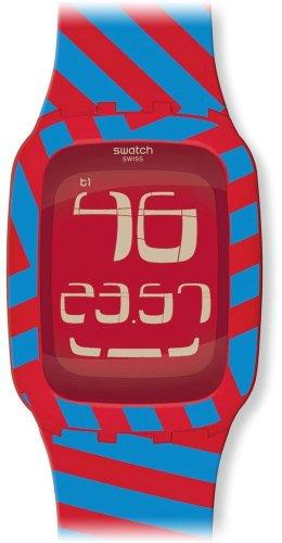 スウォッチ 腕時計 レディース 【送料無料】Swatch Quadri-Code Two-Tone Rubber Digital Ladies Watch SURR103スウォッチ 腕時計 レディース