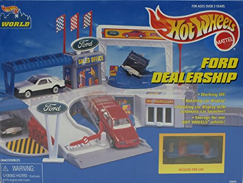 ホットウィール マテル ミニカー ホットウイール 【送料無料】Hot Wheels Ford Dealership Playset (Hot Wheels World) (1996)ホットウィール マテル ミニカー ホットウイール
