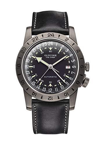 グリシン スイスウォッチ 腕時計 メンズ グライシン 【送料無料】Glycine Airman Mens Analog Swiss Automatic Watch with Leather Bracelet GL0246グリシン スイスウォッチ 腕時計 メンズ グライシン
