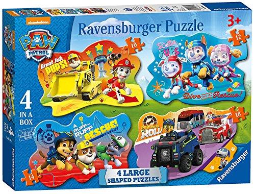 パウパトロール アメリカ直輸入 英語 バイリンガル育児 おもちゃ 【送料無料】Paw Patrol 4 in a Box Puzzles Shaped Puzzles for Little Hands Ages 3+パウパトロール アメリカ直輸入 英語 バイリンガル育児 おもちゃ