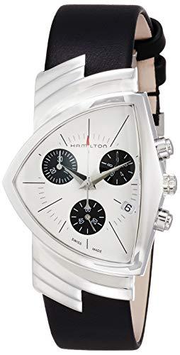 腕時計 ハミルトン メンズ 【送料無料】Hamilton H24432751 Ventura Chrono Quartz Unisex Watch Black Leather腕時計 ハミルトン メンズ