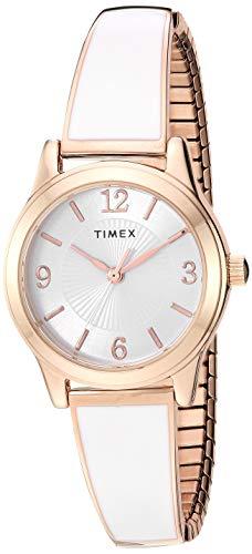 腕時計 タイメックス レディース 【送料無料】Timex Women's TW2R92700 Stretch Bangle 25mm Black/Silver-Tone Expansion Band Watch腕時計 タイメックス レディース