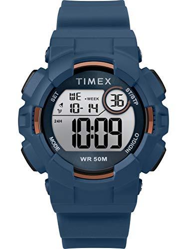 タイメックス 腕時計 レディース 【送料無料】Timex Unisex TW5M23500 DGTL Mako Digital 44mm Blue/Gold-Tone Silicone Strap Watchタイメックス 腕時計 レディース