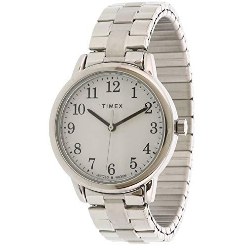 タイメックス 腕時計 レディース 【送料無料】Timex Women's Easy Reader TW2R58700 Silver Stainless-Steel Analog Quartz Dress Watchタイメックス 腕時計 レディース