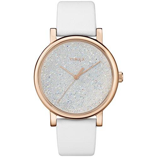 タイメックス 腕時計 レディース 【送料無料】Timex Women's TW2R95000 Crystal Opulence White/Gold Leather Strap Watchタイメックス 腕時計 レディース