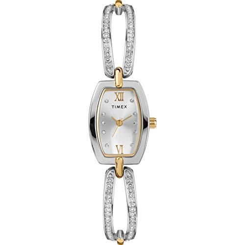腕時計 タイメックス レディース 【送料無料】Timex Women's Dress Analog 18mm Bangle Watch, Gold-Tone/Silver-Tone腕時計 タイメックス レディース