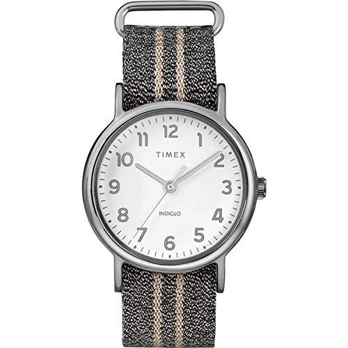 腕時計 タイメックス レディース 【送料無料】Timex TW2R92200 Weekender Women's Analog Watch Grey Metallic Nylon Strap腕時計 タイメックス レディース