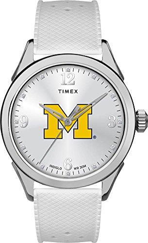 タイメックス 腕時計 レディース 【送料無料】Timex University of Michigan Wolverines Ladies Silcone Athena Watchタイメックス 腕時計 レディース