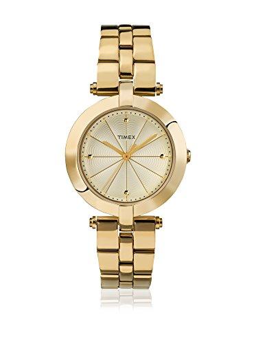 タイメックス 腕時計 レディース 【送料無料】Timex Women's Quartz Watch with Gold Dial Analogue Display and Gold Stainless Steel Bracelet TW2P79200タイメックス 腕時計 レディース