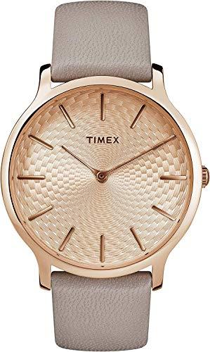 タイメックス 腕時計 レディース 【送料無料】Timex Womens Analogue Classic Quartz Watch with Leather Strap TW2R49500タイメックス 腕時計 レディース