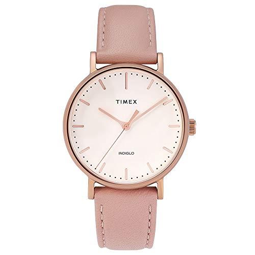 タイメックス 腕時計 レディース Timex Women's 37 mm Fairfield Leather Strap Cream/Pink One Sizeタイメックス 腕時計 レディース