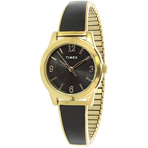 タイメックス 腕時計 レディース 【送料無料】Timex Women's Stretch Bangle TW2R92900 Gold Stainless-Steel Analog Quartz Dress Watchタイメックス 腕時計 レディース