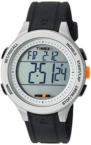 腕時計 タイメックス メンズ 【送料無料】Timex Men's TW5M24600 Ironman Essential 30 Black/Gray/Orange Silicone Strap Watch腕時計 タイメックス メンズ
