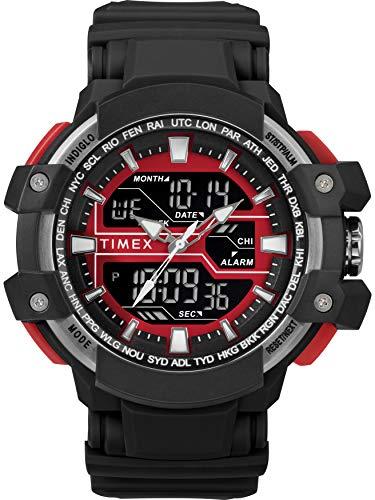タイメックス 腕時計 メンズ 【送料無料】Timex Men's TW5M22700 DGTL Tactic Big Combo 53mm Black/Gray/Red Resin Strap Watchタイメックス 腕時計 メンズ