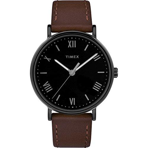 タイメックス 腕時計 メンズ 【送料無料】Timex Men's TW2R80300 Southview 41mm Brown/Black Leather Strap Watchタイメックス 腕時計 メンズ