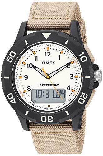 タイメックス 腕時計 メンズ 【送料無料】Timex Men's TW4B16800 Expedition Katmai Combo 40mm Khaki/Black/Natural Nylon Strap Watchタイメックス 腕時計 メンズ