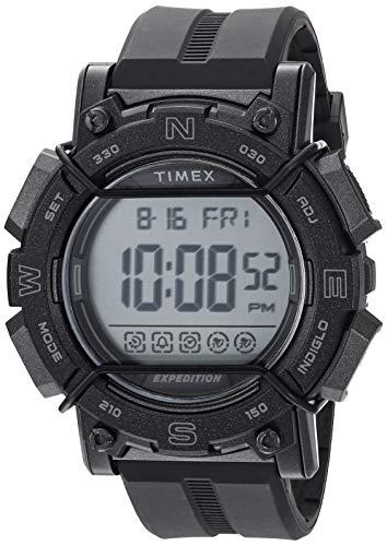 タイメックス 腕時計 メンズ 【送料無料】Timex Men's TW4B18100 Expedition Digital CAT 47mm Black/Gray Resin Strap Watchタイメックス 腕時計 メンズ