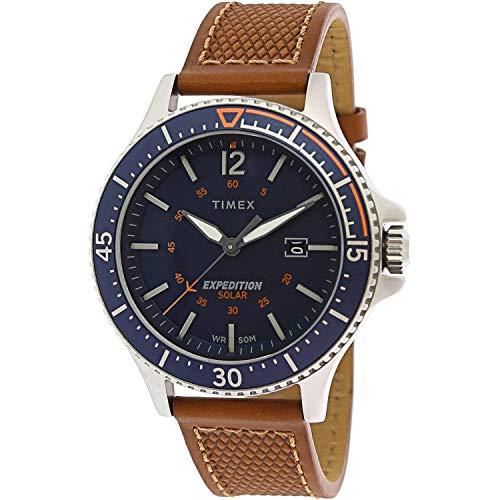 タイメックス 腕時計 メンズ 【送料無料】Timex Men's Expedition Ranger TW4B15000 Silver Leather Quartz Fashion Watchタイメックス 腕時計 メンズ