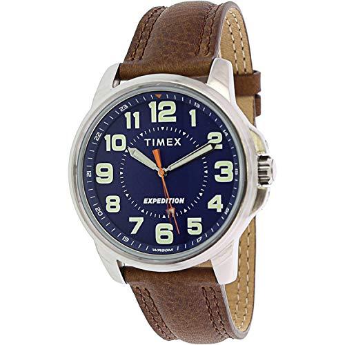 腕時計 タイメックス メンズ 【送料無料】Timex Men's Expedition Field TW4B16000 Silver Leather Japanese Quartz Fashion Watch腕時計 タイメックス メンズ