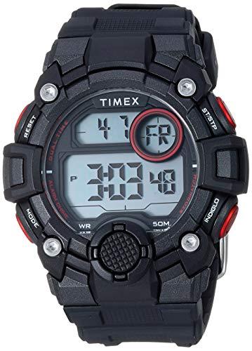 タイメックス 腕時計 メンズ 【送料無料】Timex Men's TW5M27600 DGTL A-Game 50mm Black/Red Resin Strap Watchタイメックス 腕時計 メンズ