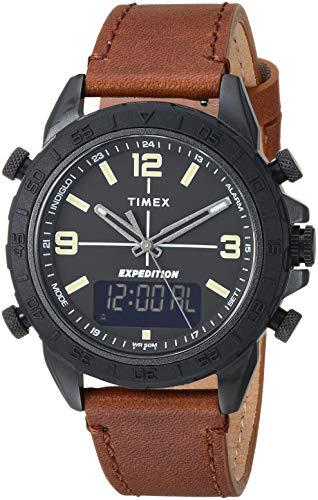 腕時計 タイメックス メンズ 【送料無料】Timex Men's TW4B17400 Expedition Pioneer Combo 41mm Brown/Black Leather Strap Watch腕時計 タイメックス メンズ