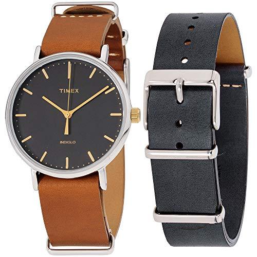 腕時計 タイメックス メンズ 【送料無料】Timex Fairfield Quartz Movement Black Dial Unisex Watch TWG016500腕時計 タイメックス メンズ