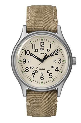 腕時計 タイメックス メンズ 【送料無料】Timex MK1 Natural Dial Canvas Strap Unisex Watch TW2R68000腕時計 タイメックス メンズ