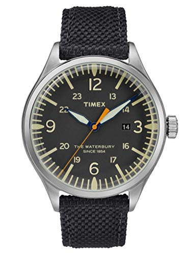 腕時計 タイメックス メンズ 【送料無料】Timex Waterbury Black Dial Canvas Strap Men's Watch TW2R38500腕時計 タイメックス メンズ