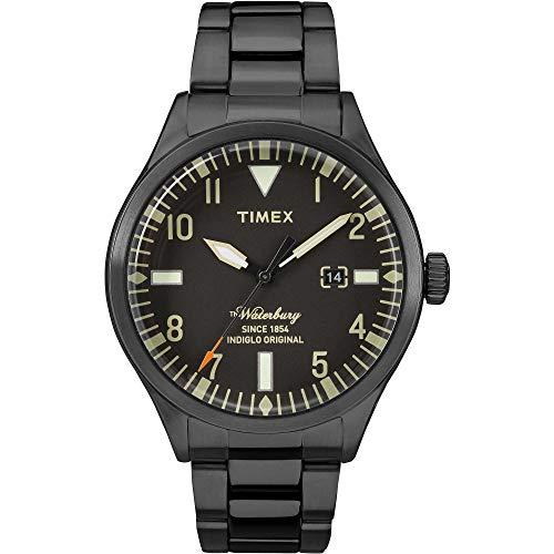 腕時計 タイメックス メンズ 【送料無料】Timex The Waterbury Black Dial Stainless Steel Men's Watch TW2R25200腕時計 タイメックス メンズ