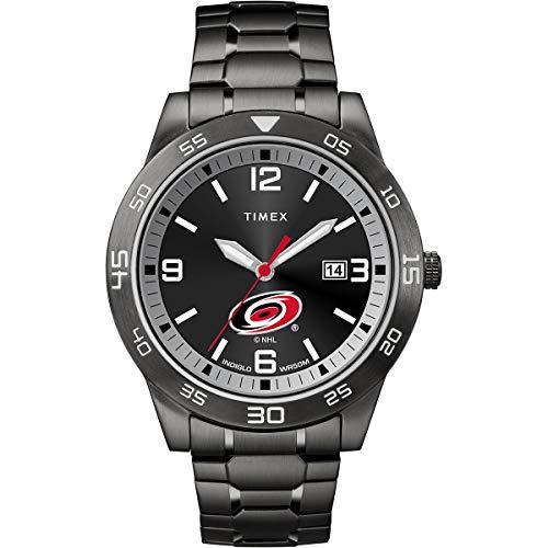 腕時計 タイメックス メンズ 【送料無料】Timex Men's TWZHHURMM NHL Acclaim Carolina Hurricanes Watch腕時計 タイメックス メンズ