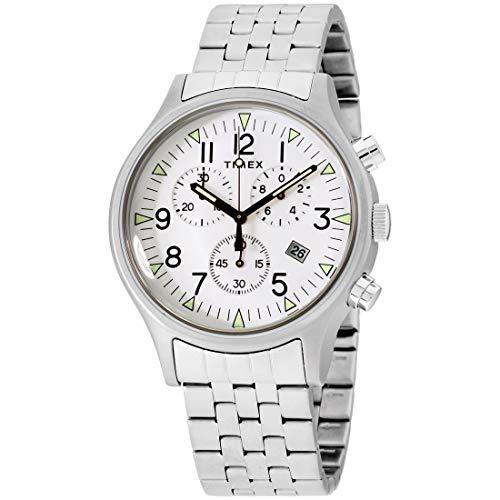 腕時計 タイメックス メンズ 【送料無料】Timex MK1 Quartz Movement White Dial Men's Watch TW2R68900腕時計 タイメックス メンズ