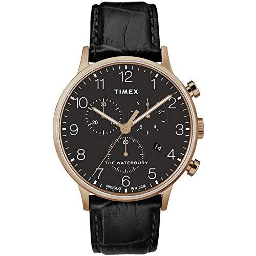 腕時計 タイメックス メンズ 【送料無料】Timex Waterbury Classic Quartz Movement Black Dial Men's Watch TW2R72000腕時計 タイメックス メンズ