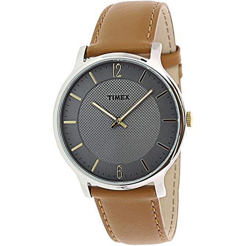 タイメックス 腕時計 メンズ 【送料無料】Timex Men's Metropolitan Skyline TW2R49700 Silver Leather Japanese Quartz Fashion Watchタイメックス 腕時計 メンズ