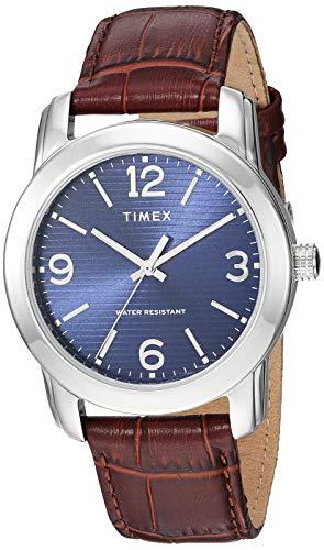 タイメックス 腕時計 メンズ 【送料無料】Timex Men's TW2R86800 Classic 39mm Brown/Silver-Tone/Blue Croco Pattern Leather Strap Watchタイメックス 腕時計 メンズ