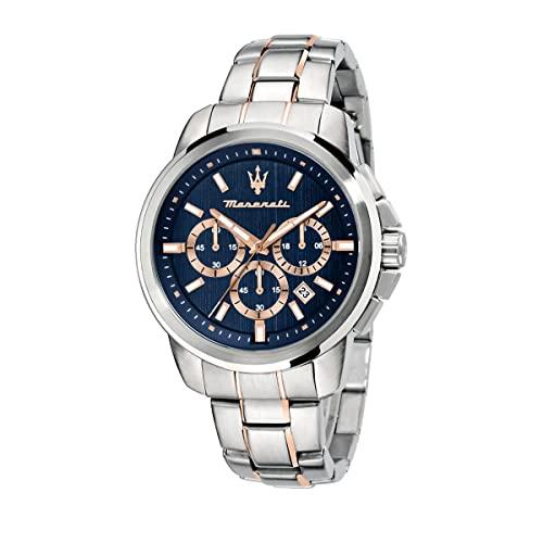 マセラティ イタリア 腕時計 メンズ 【送料無料】MASERATI Men's SUCCESSO Quartz Stainless-Steel Strap, Rose Gold, 20 Casual Watch (Model: R8873621008)マセラティ イタリア 腕時計 メンズ