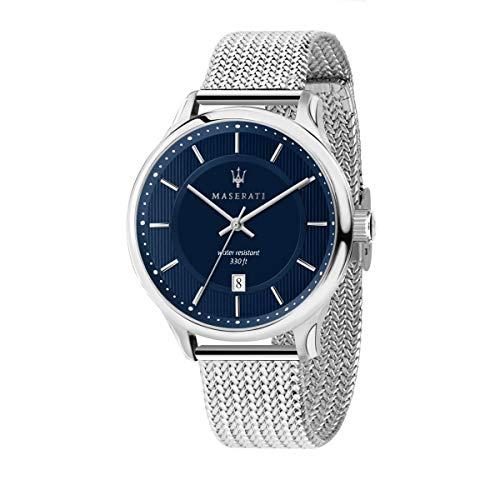 マセラティ イタリア 腕時計 メンズ 【送料無料】MASERATI Men's Gentleman Quartz Stainless-Steel Strap, Silver, 20 Casual Watch (Model: R8853136002)マセラティ イタリア 腕時計 メンズ