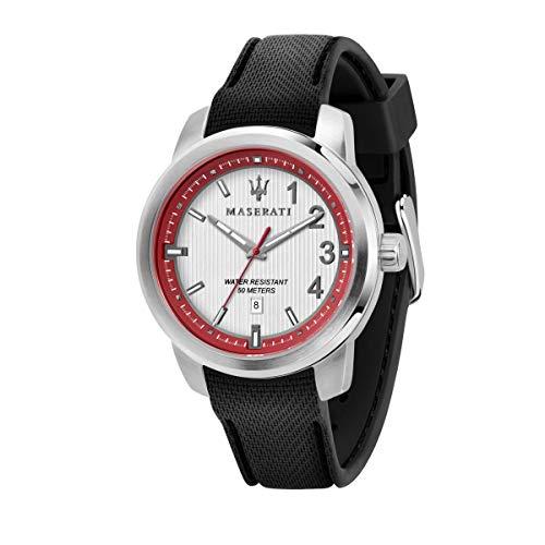 マセラティ イタリア 腕時計 メンズ 【送料無料】Maserati Royale Mens Analog Quartz Watch with Silicone Bracelet R8851137004マセラティ イタリア 腕時計 メンズ