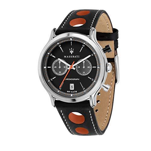 マセラティ イタリア 腕時計 メンズ 【送料無料】Maserati Legend Mens Analog Quartz Watch with Leather Bracelet R8851138003マセラティ イタリア 腕時計 メンズ