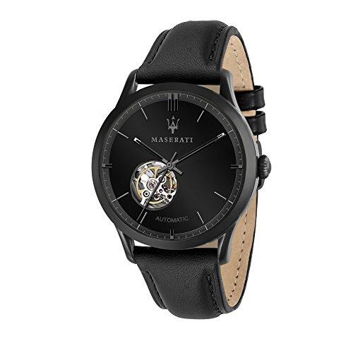 マセラティ イタリア 腕時計 メンズ 【送料無料】MASERATI Men's Ricordo Stainless Steel Quartz Leather Strap, Brown, 13 Casual Watch (Model: R8821133001)マセラティ イタリア 腕時計 メンズ