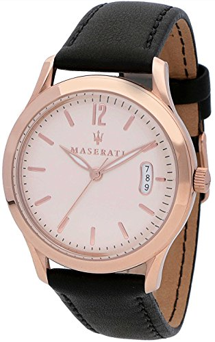 マセラティ イタリア 腕時計 メンズ 【送料無料】Maserati Tradizione Mens Analog Quartz Watch with Leather Bracelet R8851125002マセラティ イタリア 腕時計 メンズ