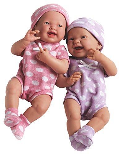 ジェーシートイズ 赤ちゃん おままごと ベビー人形 JC Toys My Very Own Twin Dolls Baby Doll, Pink/Purpleジェーシートイズ 赤ちゃん おままごと ベビー人形