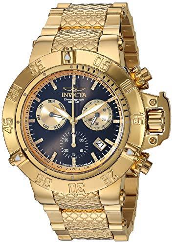 インヴィクタ インビクタ サブアクア 腕時計 メンズ 【送料無料】Invicta Men's Subaqua Quartz Watch with Stainless Steel Strap, Gold, 27.1 (Model: 28535)インヴィクタ インビクタ サブアクア 腕時計 メンズ